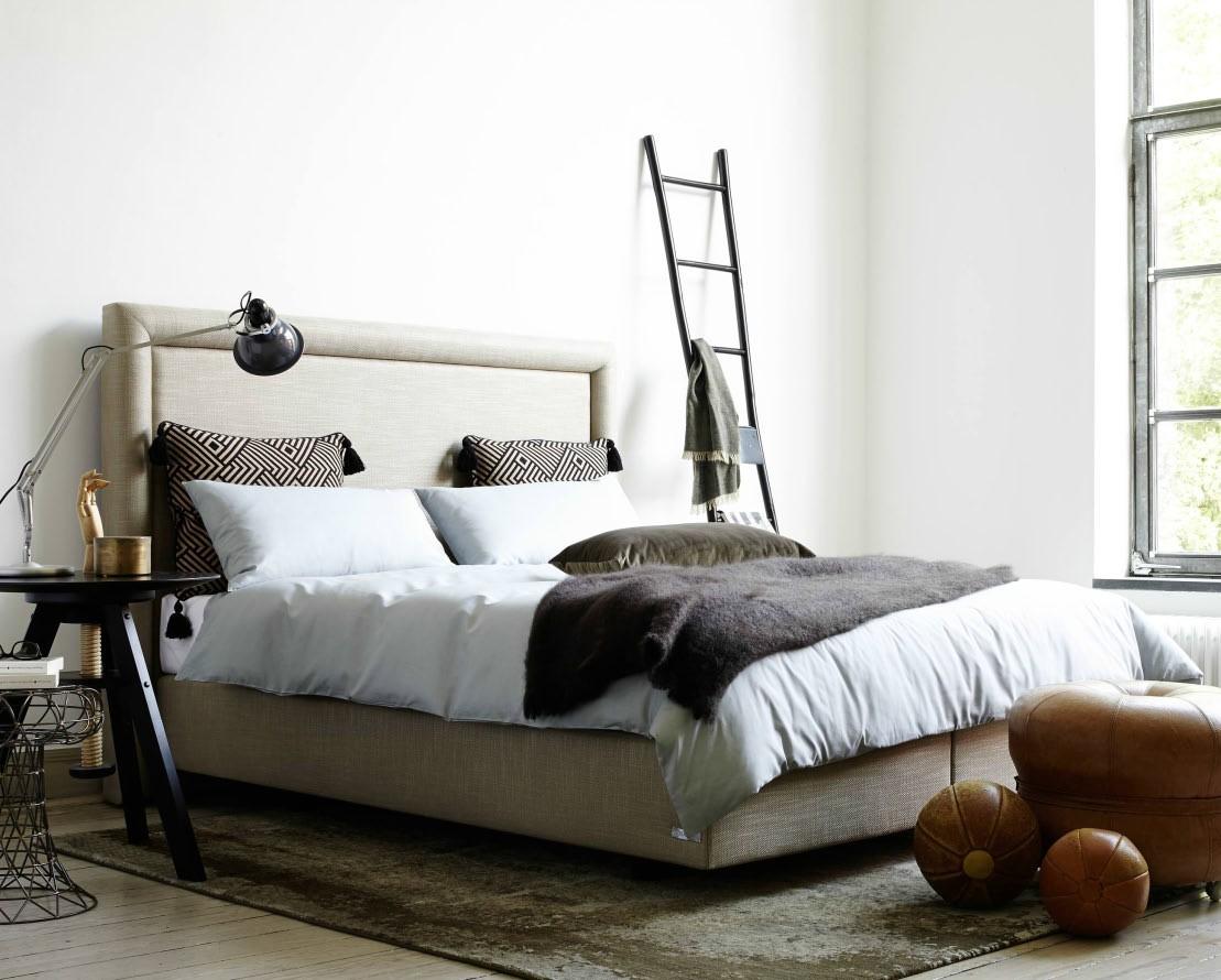 łóżko Kontynentalne Sembella Prince 140200 Z Wezgłowiem
